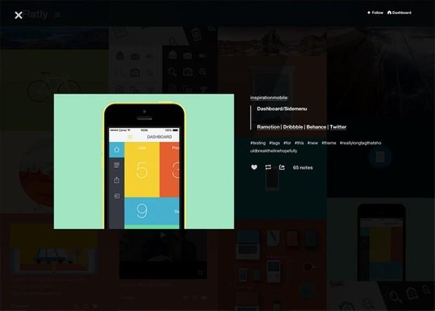 Aura - Responsive grid based flat tumblr theme