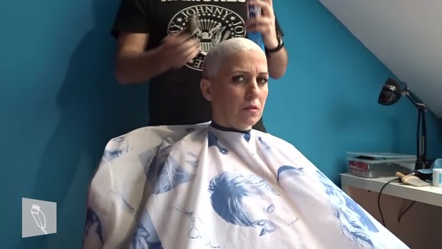 10 Yoli: Long curly hair, undercut pixie, buzzed, clippershave, razor shaved & massage