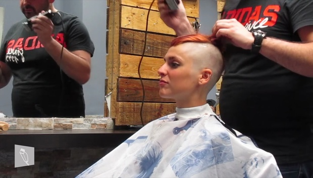 14 Lucia: Medium hair, short boyish cut, undercut & headshave