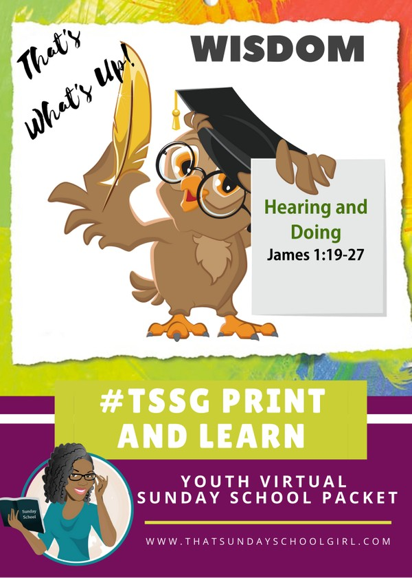 #ForTheKidsFriday - Virtual Sunday School Packet - Hearers and Doers - August 9, 2020 📚💭💙