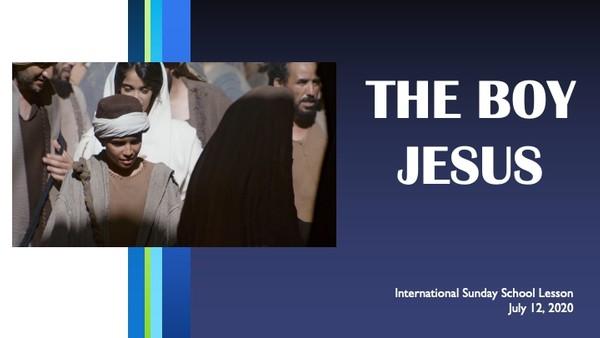 #ZoomIntoSundaySchool - July 12, 2020 -  The Boy Jesus 📚💭💙