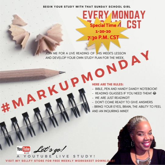 #MarkUpMonday for February 2, 2020 - Single-Minded Obedience ⛪️🙌🏾