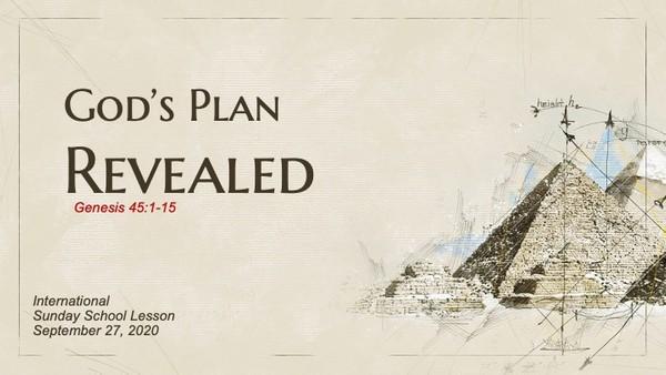 #ZoomIntoSundaySchool for September 27, 2020 - God's Plan Revealed