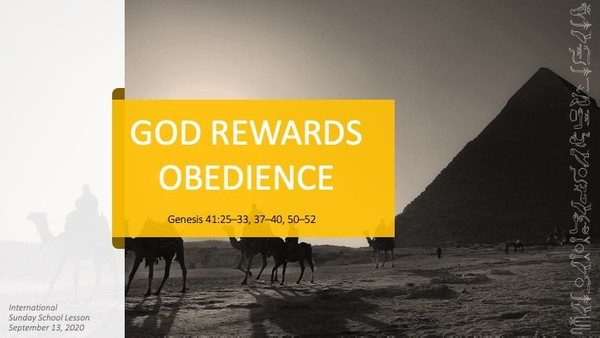 #ZoomIntoSundaySchool for September 13, 2020 - God Rewards Obedience
