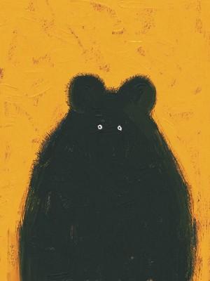 Black Honey Bear - A3 300dpi - FREE download Now!
