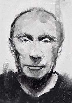Vladimir Putin . 21 x 39.7cm 300dpi.
