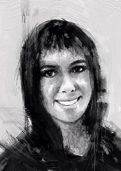 Gwendolyn Davis -USA -Black n White portrait