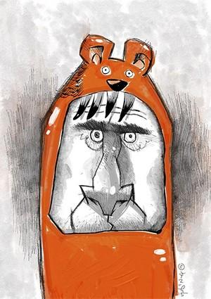 I am Orange Bear! :) A4 300dpi