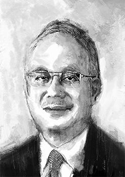Najib Razak - Prime Minister o f Malaysia - A4 21 x 29.7cm at 300dpi - FREE!