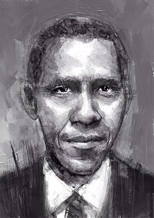 Barrack Obama - A4 300dpi