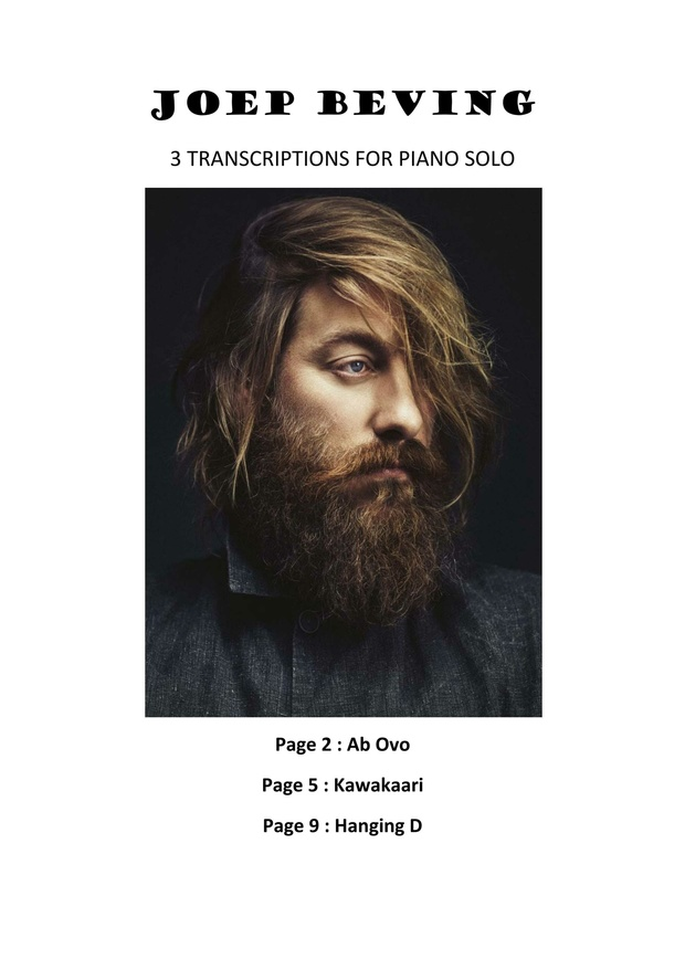 Joep Beving - 3 transcriptions for piano solo - Ab Ovo, Kawakaari, Hanging D