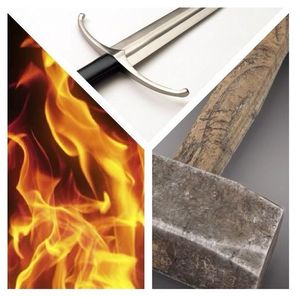 Fire, A Hammer, A Sword