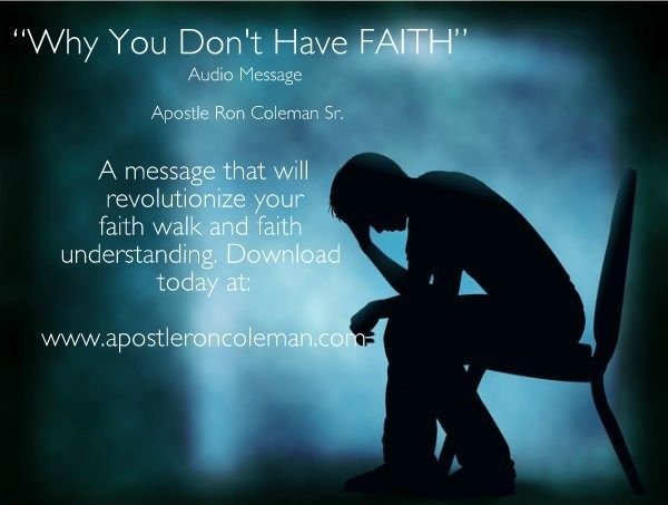 Why You Don't Have Faith