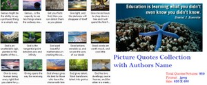 Picture Quotes Collection with Authors Name