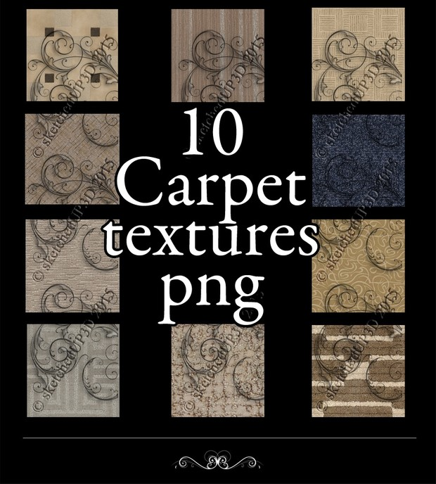 10 Carpet Texture Bundle
