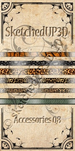 Accessories 08 - Belt Texture Animal Print