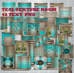 TEAL TEXTURE ROOM