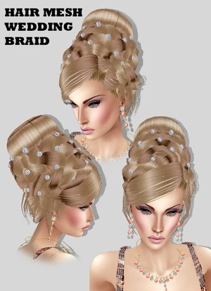 WEDDING HAIR BRAID  MESH