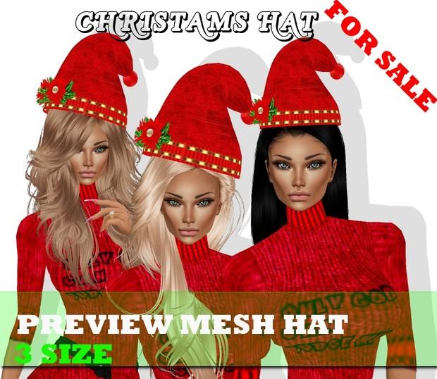 HAT MESH CHRISTMAS