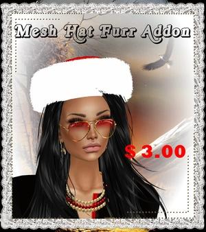 mesh hat fur christmas