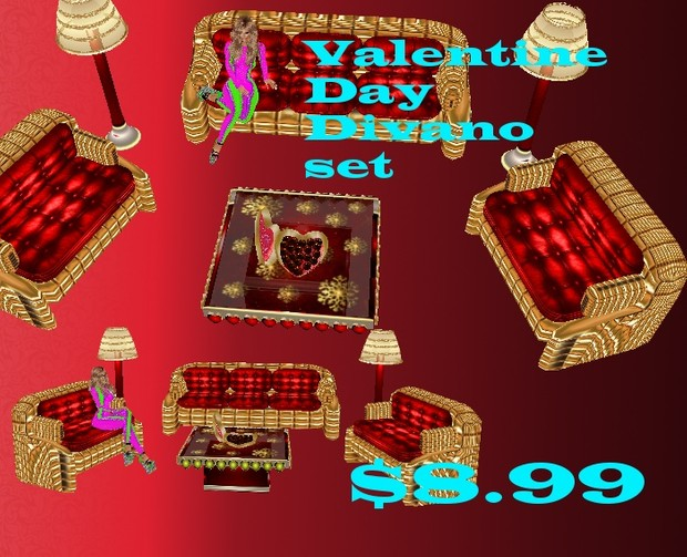 set  divano  mesh  for  valentine day