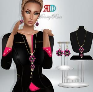 set jewelry rose MESH
