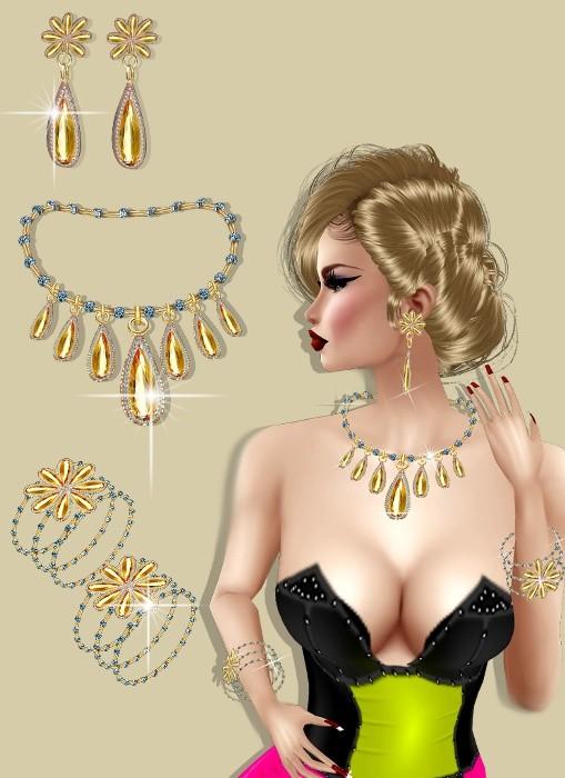 jewelry goccia  mesh
