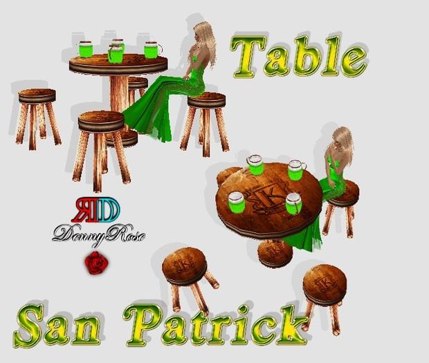 TABLE +CHAIR SAN PATRICK