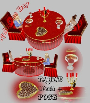 Table Romantic Valentine MESH
