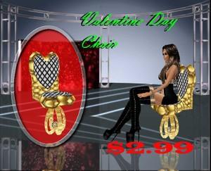 valentine day chair  mesh