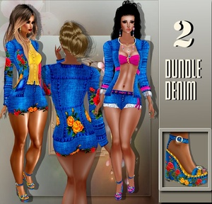 2 BUNDLE COMPLET DENIM