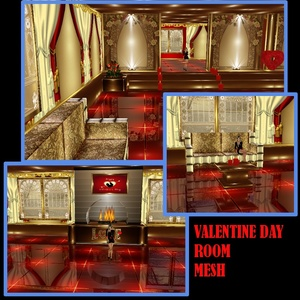 VALENTINE DAY ROOM MESH
