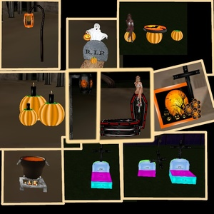 10 HALLOWEEN MESH  ONLY