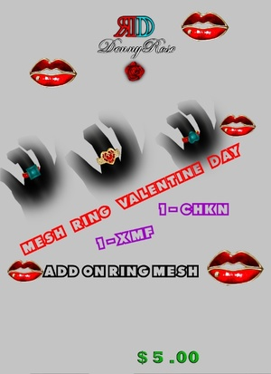 RING  VALENTINE DAY  MESH