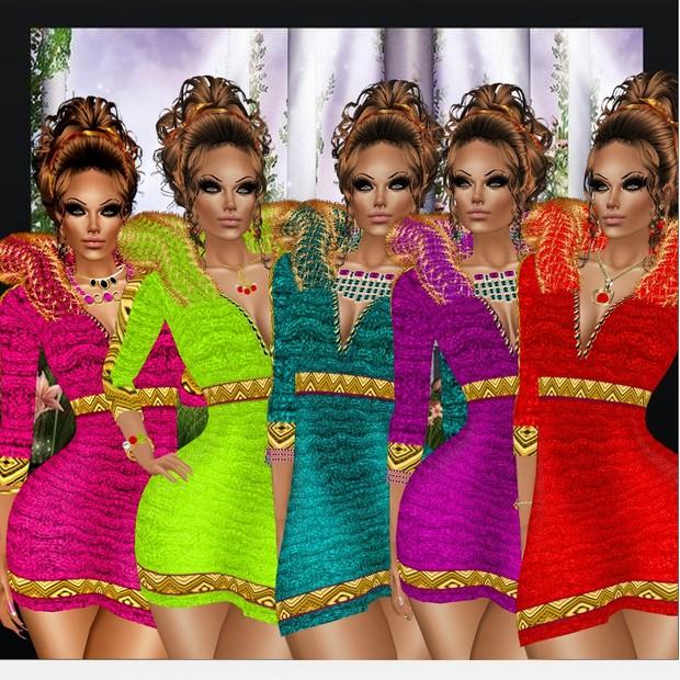 LISA DRESS TEXTURE