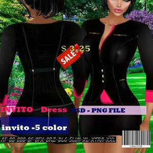 INVITO DRESS TEXTURE  HD