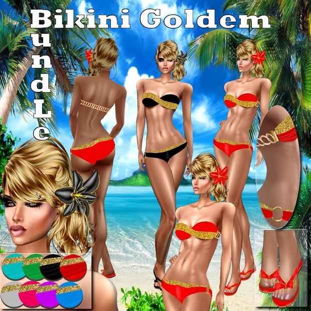 BUNDLE  BIKINI GOLDEN  TEXTURE