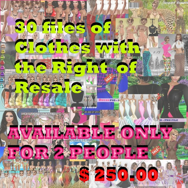30 FILE CLOTHES  WITH RESALE RIGHT