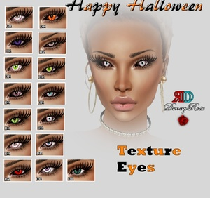 TEXTURE EYES FOR HALLOWEEN