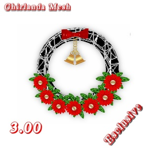 GHIRLANDA  MESH  CHRISTMAS