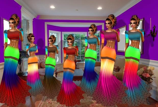 ARCOBALENO DRESS TEXTURE