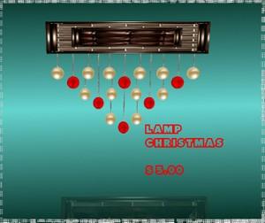 LAMP CHRISTMAS MESH