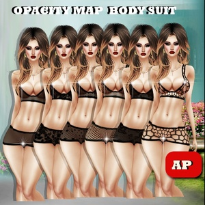 Opacity Map For Body  Suit