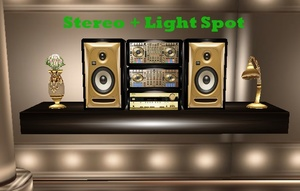 MOBILE STEREO + LIGHT SPOT