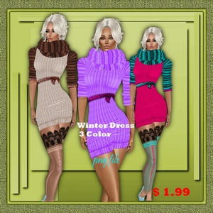 winter mini dress texture