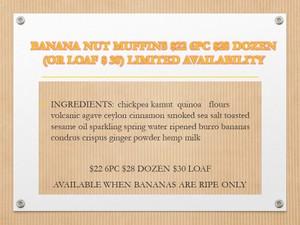 BANANA NUT MUFFINS DOZEN