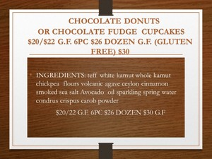 DOZEN CHOCOLATE DONUTS OR CUPCAKES