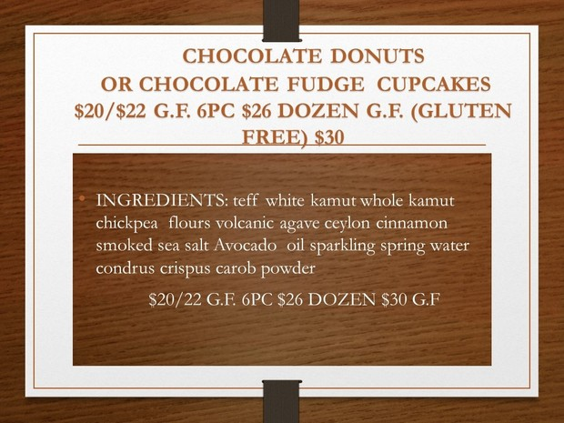 G.F DOZEN DONUTS OR CUPCAKES