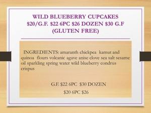 HALF DOZEN WILD BLUEBERRY CUPCAKES