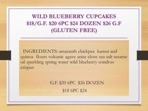 G.F DOZEN WILD BLUEBERRY CUPCAKES